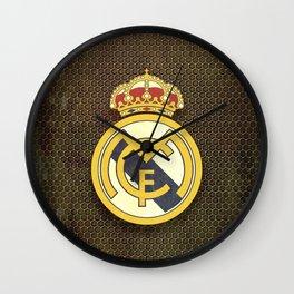 Real Madrid CF metal background Wall Clock