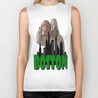 boston Biker Tanks featuring BOSTON  by Robleedesigns