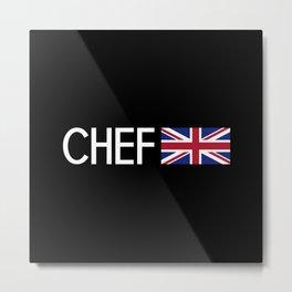 Chef (British Flag) Metal Print