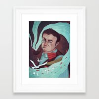 milky way Framed Art Prints featuring Milky Way  by Fravenmort