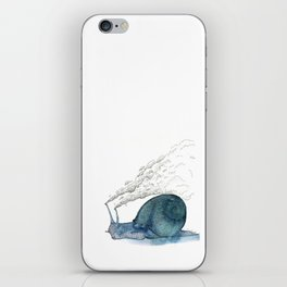 Escargot fumant iPhone Skin
