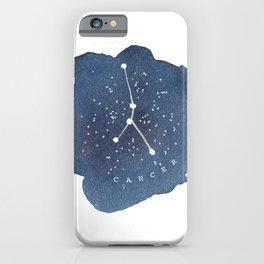 cancer constellation zodiac iPhone Case