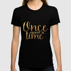 Once Upon a Time - Gold X-LARGE Black Womens Fitted Tee