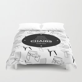CHAIRS - A tribute to seats (special edition) Duvet Cover