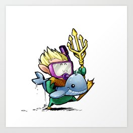 Inktober Aquaman Art Print