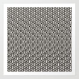 Decorative Triangles Pattern Art Print