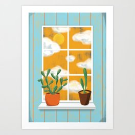 window  Art Print