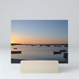 Brine & Boats • Sunset at Peaceful Pine Point Mini Art Print
