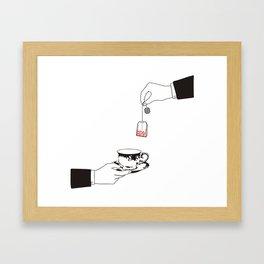 Tea hour Framed Art Print