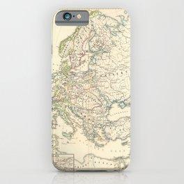 Vintage Map - Spruner-Menke Handatlas (1880) - 11 Napoleonic Europe, 1810 iPhone Case