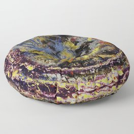Abstract: Circle of Colors Floor Pillow