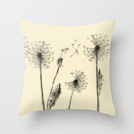 My thoughts and I Throw Pillow