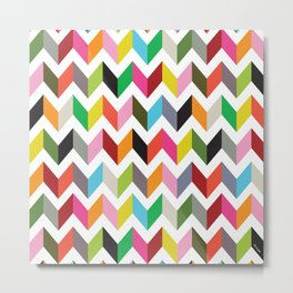 Ziggy chevron Metal Print
