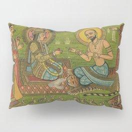 Vintage Indian Label Pillow Sham