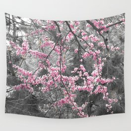 Under The Redbud Tree Wall Tapestry
