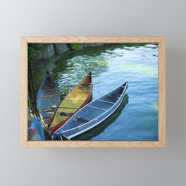 Canoe Tulip Framed Mini Art Print