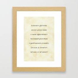 A Elbereth Githoniel Framed Art Print