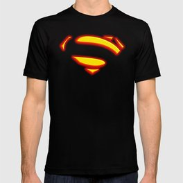 Superman Hope Symbol Logo black background T-shirt