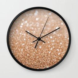Copper Shiny Powder Texure Wall Clock