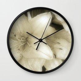 Baroque Lilies 1 Wall Clock
