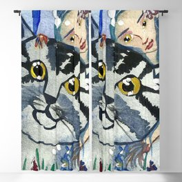 Golden Eyes Fairy and a Cat Blackout Curtain