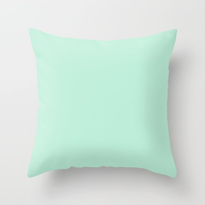 Mint Green Throw Pillow by beautifulhomes