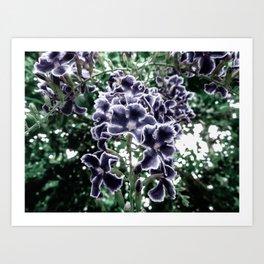 Navy Floral Arrangement Art Print