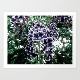 Navy Floral Arrangement Art Print