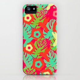 Tropical pattern with hummingbirds iPhone Case