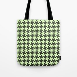 Neon Houndstooth Tote Bag