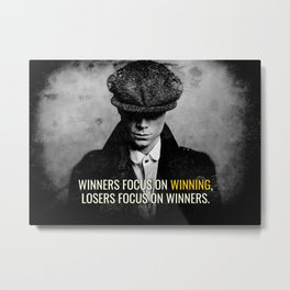 PB Focus on Winning Metal Print