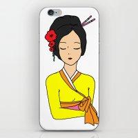 korean iPhone & iPod Skins featuring Korean Maiden by RaJess