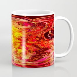 Red Abstract Pear Coffee Mug