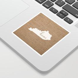 Kentucky is Home - White on Burlap Sticker