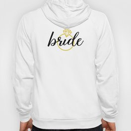 Bride with Diamond Ring (Gold) Hoody