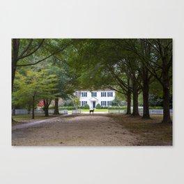 Bassett Hall in Autumn Canvas Print
