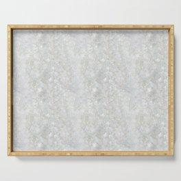 White Apophyllite Close-Up Crystal Serving Tray
