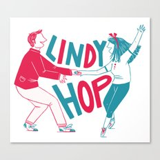 Lindy hop - Swing out Canvas Print