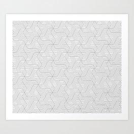 Geometric mind twisting pattern Art Print