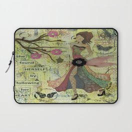 She Found Herself by Following Her Heart Laptop Sleeve