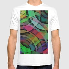 Shapes#3 White Mens Fitted Tee MEDIUM