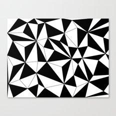 Geo - black and white Canvas Print