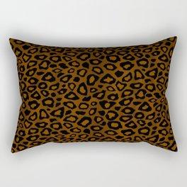 Brown and Black Leopard Pattern Rectangular Pillow