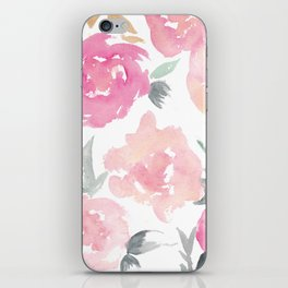 Muted Floral Watercolor Design  iPhone Skin