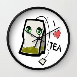 I Luv Tea Wall Clock