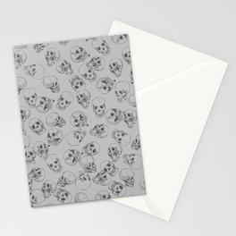 A lot of Skulls Grey Stationery Cards