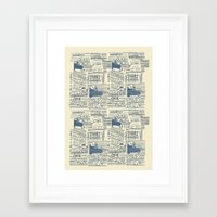 shoe Framed Art Prints featuring Shoe by Becca Hardingham