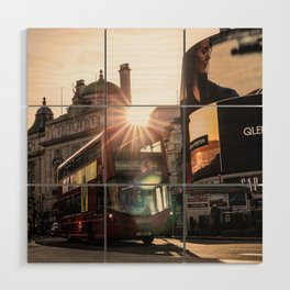 ArWork Bus Piccadily Sunset London ArtPhoto Art Wood Wall Art