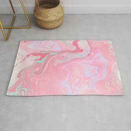 Marbled Effect with Pink Rug