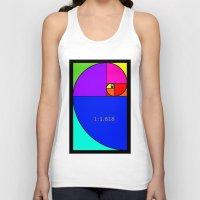 fibonacci Tank Tops featuring Fibonacci Spiral by Arts and Herbs